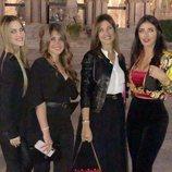 Elena Galera, Antonella Roccuzzo, Núria Cunillera y Daniella Semaan durante la Bridal Fashion Week de Barcelona de 2018