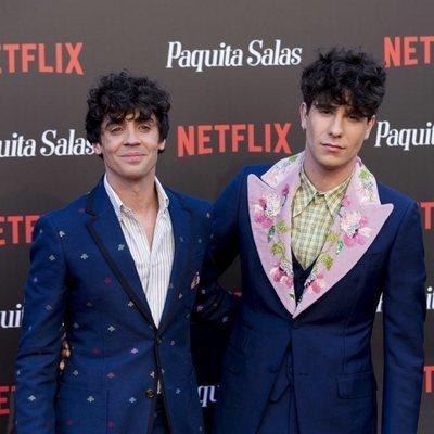 Javier Calvo y Javier Ambrossi en la premiere de la segunda temporada de 'Paquita Salas'