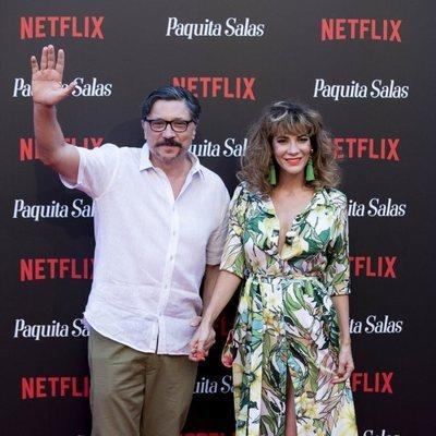Carlos Bardem y Cecilia Gessa  en la premiere de la segunda temporada de 'Paquita Salas'