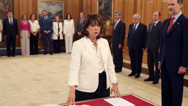 Dolores Delgado prometiendo su cargo como Ministra de Justicia