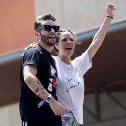 Pelayo Díaz con Laura Matamoros durante el 'Dulceweekend 2018'