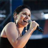 Rosa López durante el concierto de 'OT Bernabéu'