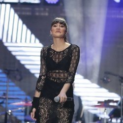 Aitana durante el concierto 'OT Bernabéu'