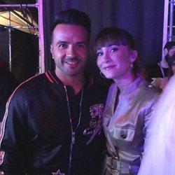 Aitana y Luis Fonsi en el backstage del concierto 'OT Bernabéu'