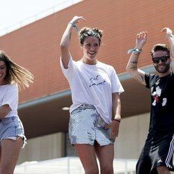 Dulceida, Laura Matamoros y Pelayo Díaz bailan durante el 'Dulceweekend 2018'