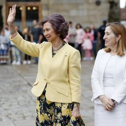 La Reina Sofía y Ana Pastor durante una visita de la monarca a Santiago de Compostela