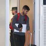 Marco Asensio regresando de Rusia con la Selección Española