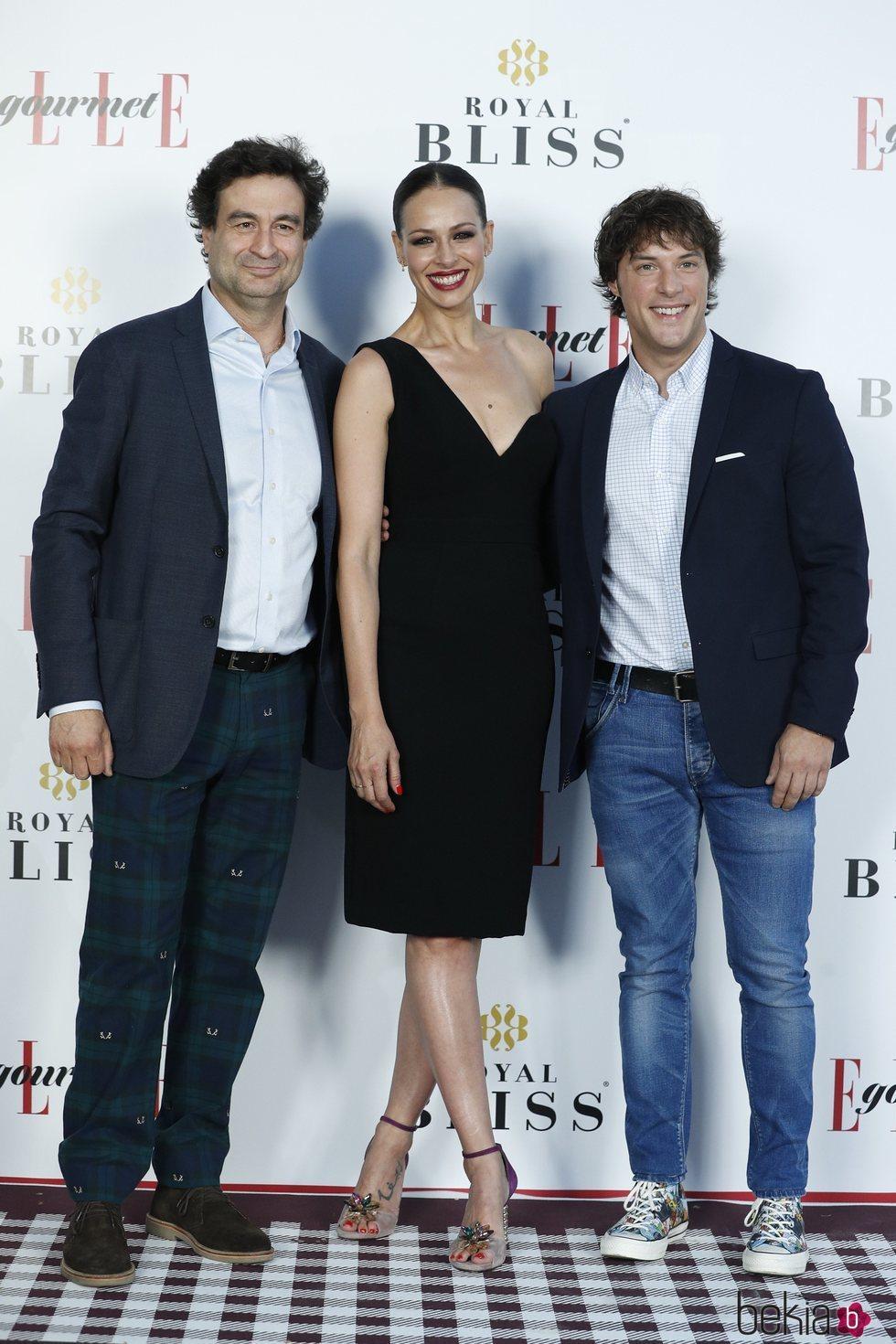 Pepe Rodríguez, Eva González y Jordi Cruz en los Elle Gourmet Awards 2018