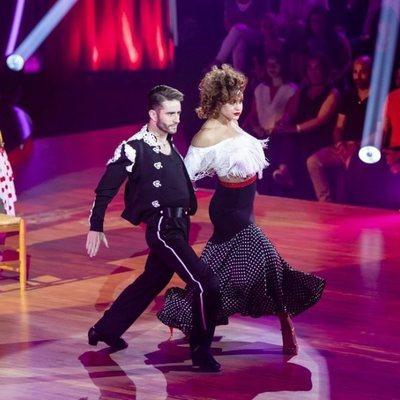 Pelayo Díaz e Inés durante su actuación en la octava gala de 'Bailando con las estrellas'