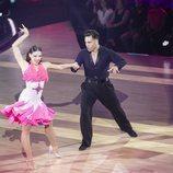 David Bustamante y Yana Olina, muy compenetrados durante la octava gala de 'Bailando con las estrellas'