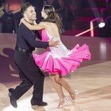 David Bustamante y Yana Olina muy cómplices durante su actuación en la octava gala de 'Bailando con las estrellas'
