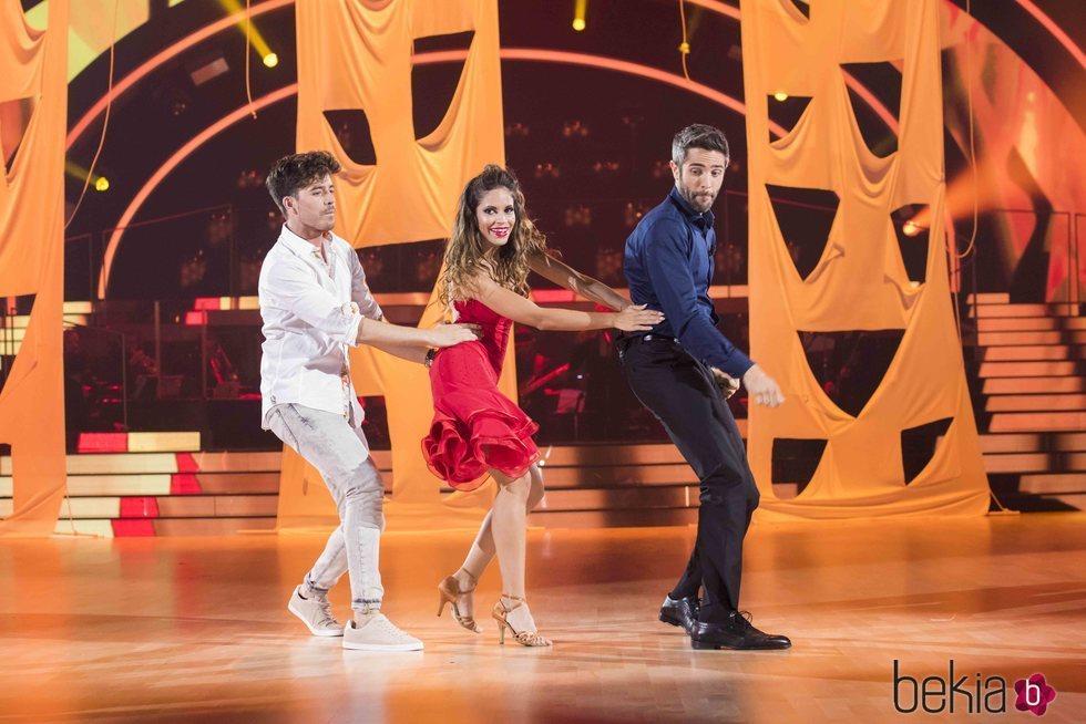 Roi Méndez, Roberto Leal y Arismel en 'Bailando con las estrellas'