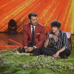 Pol Granch durante su primera actuación en la final de 'Factor X'