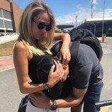 Álvaro Morata se despide de Alice Campello dándole un besito en la barriga