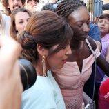Chabelita Pantoja acudiendo al bautizo de su hijo
