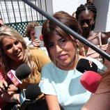Chabelita Pantoja huyendo de la prensa en el bautizo de su hijo