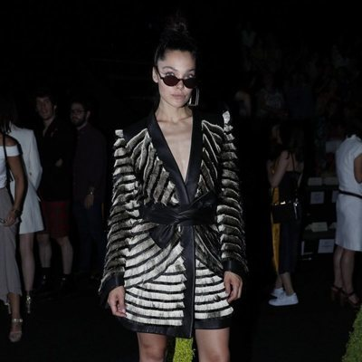 Ana Rujas en el front row de Teresa Helbig en Madrid Fashion Week primavera/verano 2019