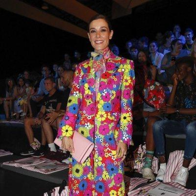 Raquel Sánchez Silva en el front row de Maria Escoté en Madrid Fashio Week primavera/verano 2019