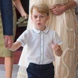 El Príncipe Jorge en el bautizo del Príncipe Luis