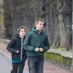 Juan Urdangarin y Pablo Urdangarin corriendo en Vitoria