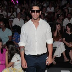Diego Matamoros en el front row de Custo Barcelona en Madrid Fashion Week primavera/verano 2019