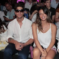 Diego y Laura Matamoros en el front row de Custo Barcelona en Madrid Fashion Week primavera/verano 2019