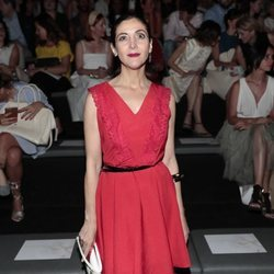 Espido Freire en el front row de Devota & Lomba en Madrid Fashion Week primavera/verano 2019