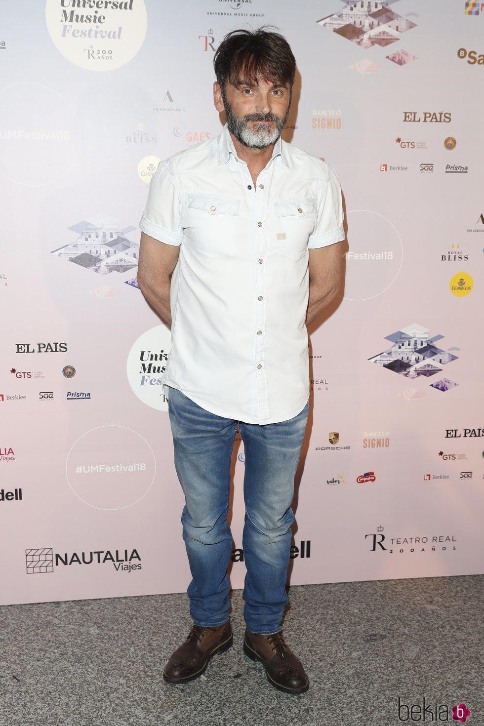 Fernando Tejero en el concierto de Niña Pastori durante el Universal Music Festival 2018