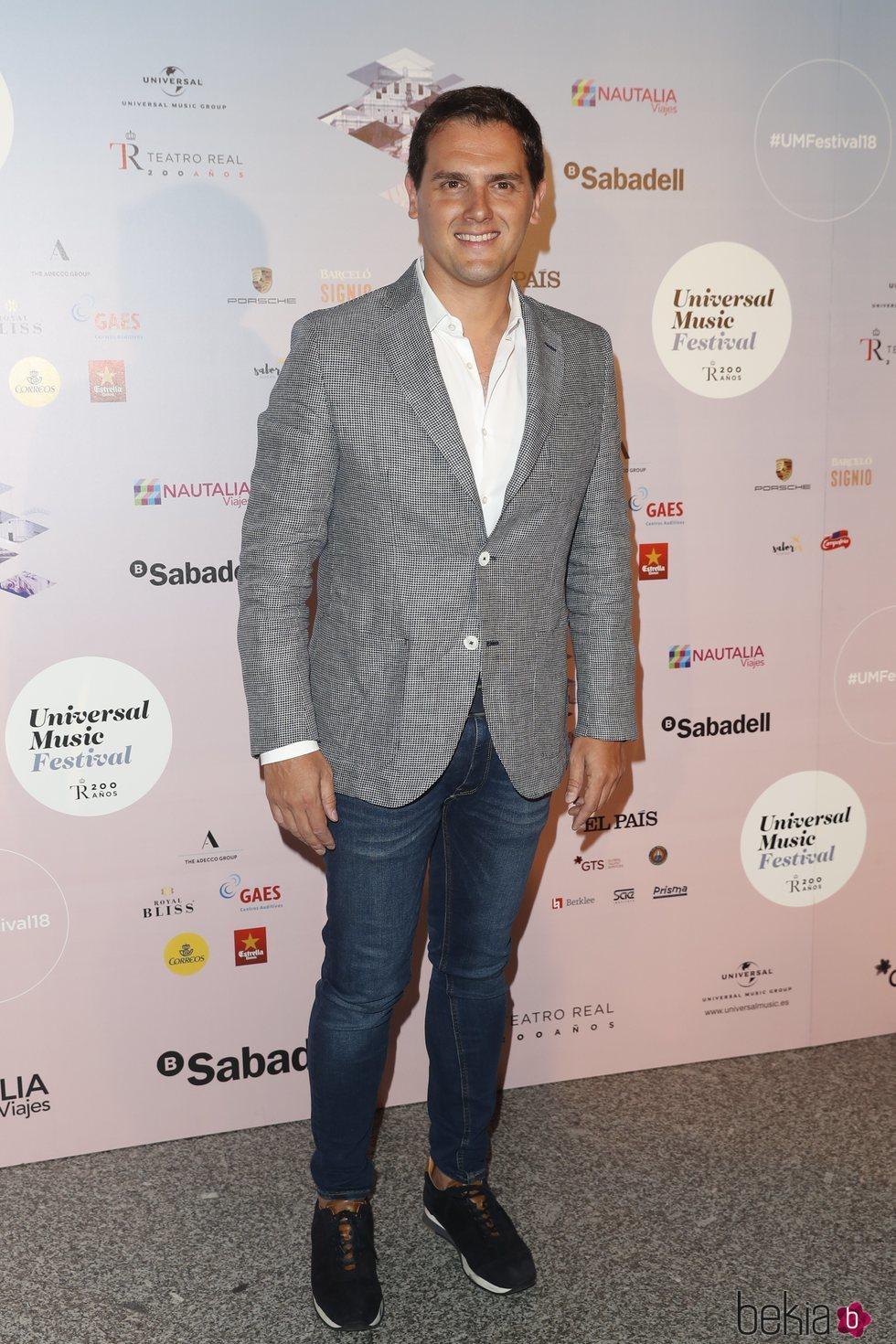 Albert Rivera en el concierto de Niña Pastori durante el Universal Music Festival 2018