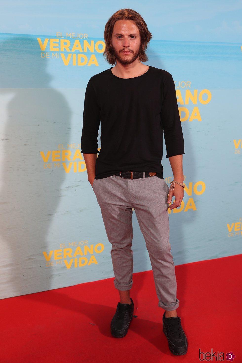 Jaime Olías en la premiere de 'El mejor verano de mi vida'