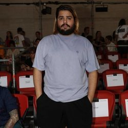 Brays Efe en el front row de Maria Ke Fisherman en Madrid Fashion Week primavera/verano 2019