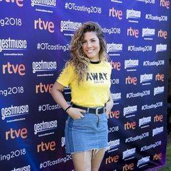Miriam Rodríguez en el cásting de 'OT 2018' en Madrid