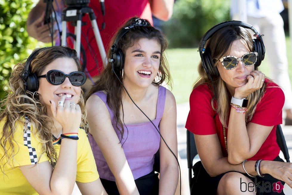 Miriam, Amaia y Noemí Galera escuchan atentamente el cásting de 'OT 2018' en Madrid