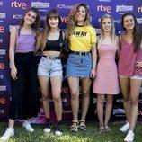 Aitana, Amaia, Miriam, Ana Guerra y Nerea en el cásting de 'OT 2018' en Madrid