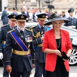 Los Príncipes de Kent, el Duque de Kent y el Duque de Gloucester en la celebración del centenario de la RAF