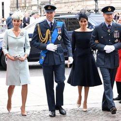 Los Duques de Cambridge y los Duques de Sussex en la celebración del centenario de la RAF