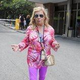 Carmen Borrego llegando al hospital a visitar a Terelu tras su operación