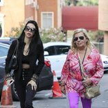 Carmen Borrego y Alejandra Rubio llegando al hospital donde ha sido operada Terelu