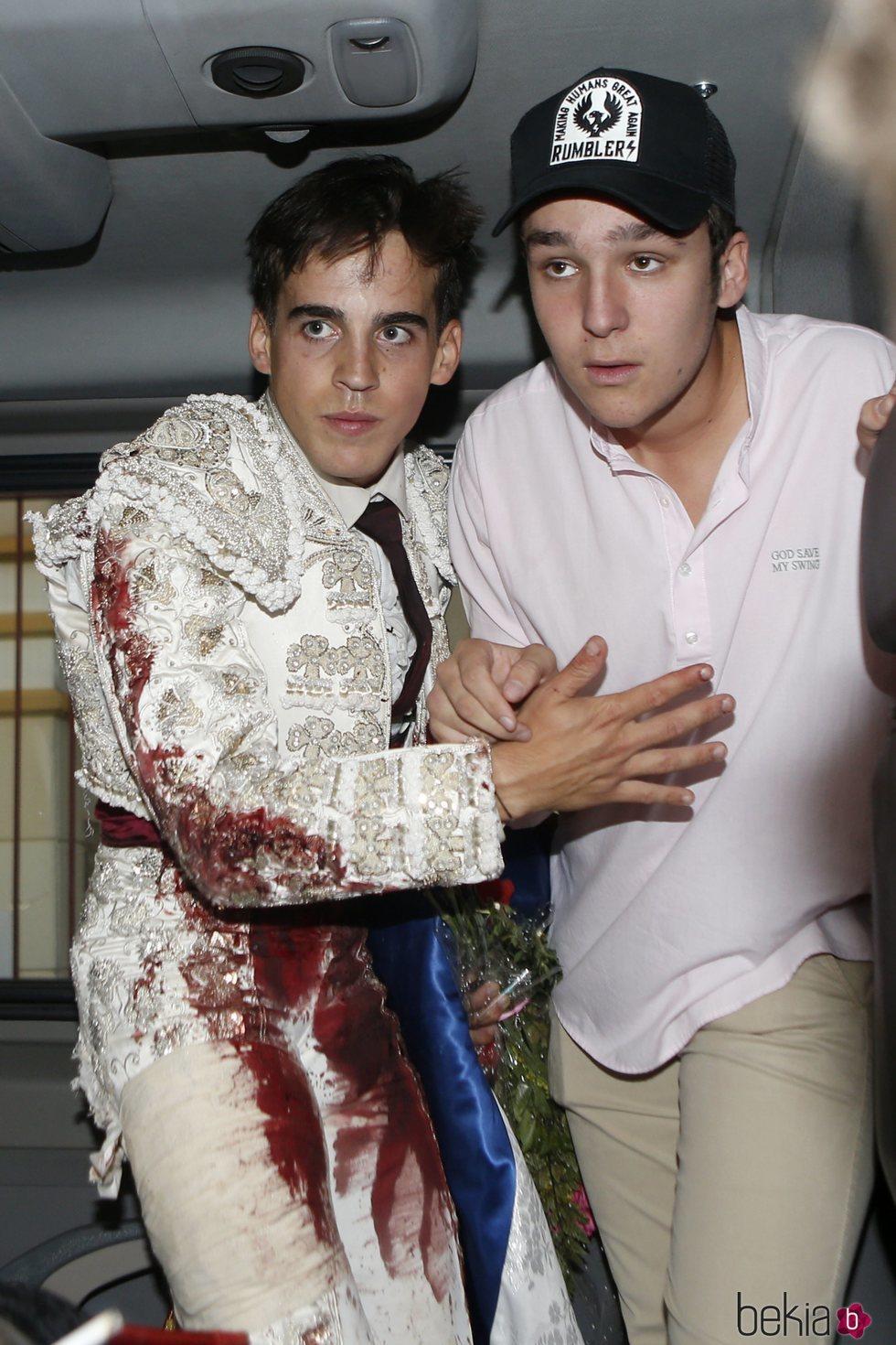 Felipe de Marichalar y Gonzalo Caballero en una fiesta taurina