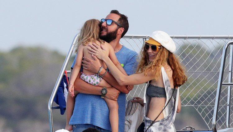Borja Thyssen, Blanca Cuesta y su hija de vacaciones en Ibiza
