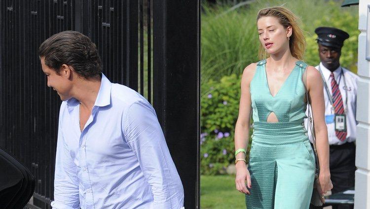 Amber Heard y su nuevo novio Vito Schnabel en Wimbledon