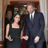El Príncpe Harry y Meghan Markle en la fiesta en la residencia del Embajador de Reino Unido en Irlanda