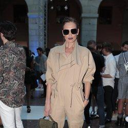 Nieves Álvarez en en el front row de Juan Vidal en Madrid Fashion Week primavera/verano 2019