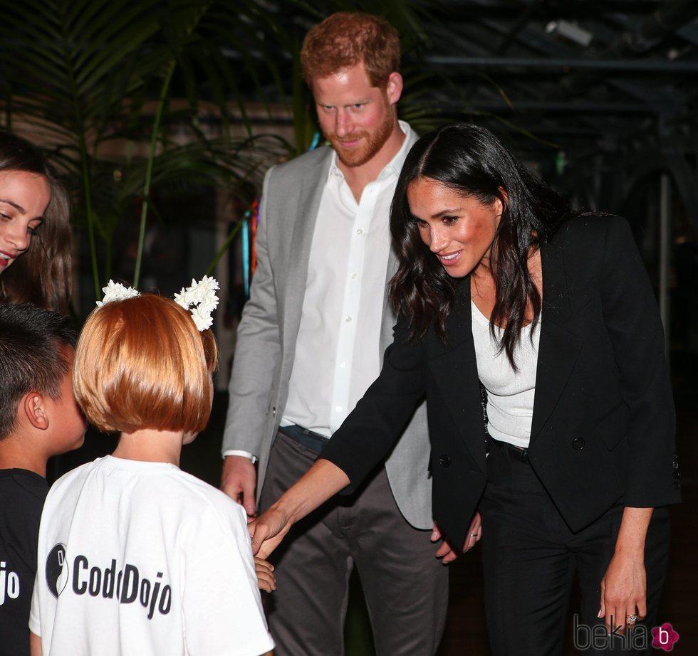 El Príncipe Harry y Meghan Markle durante su visita oficial a Irlanda