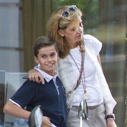 La Infanta Cristina y su hijo Pablo Urdangarin en Ginebra