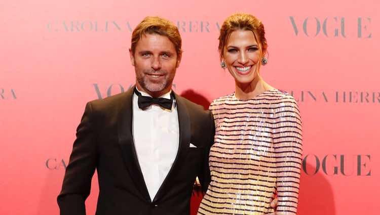 Laura Sánchez y David Ascanio en la fiesta del 30 aniversario de Vogue