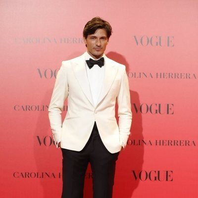 Andrés Velencoso en la fiesta del 30 aniversario de Vogue