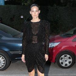 Bar Refaeli llegando a la fiesta del 30 aniversario de Vogue