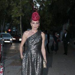 Nieves Álvarez llegando a la fiesta del 30 aniversario de Vogue