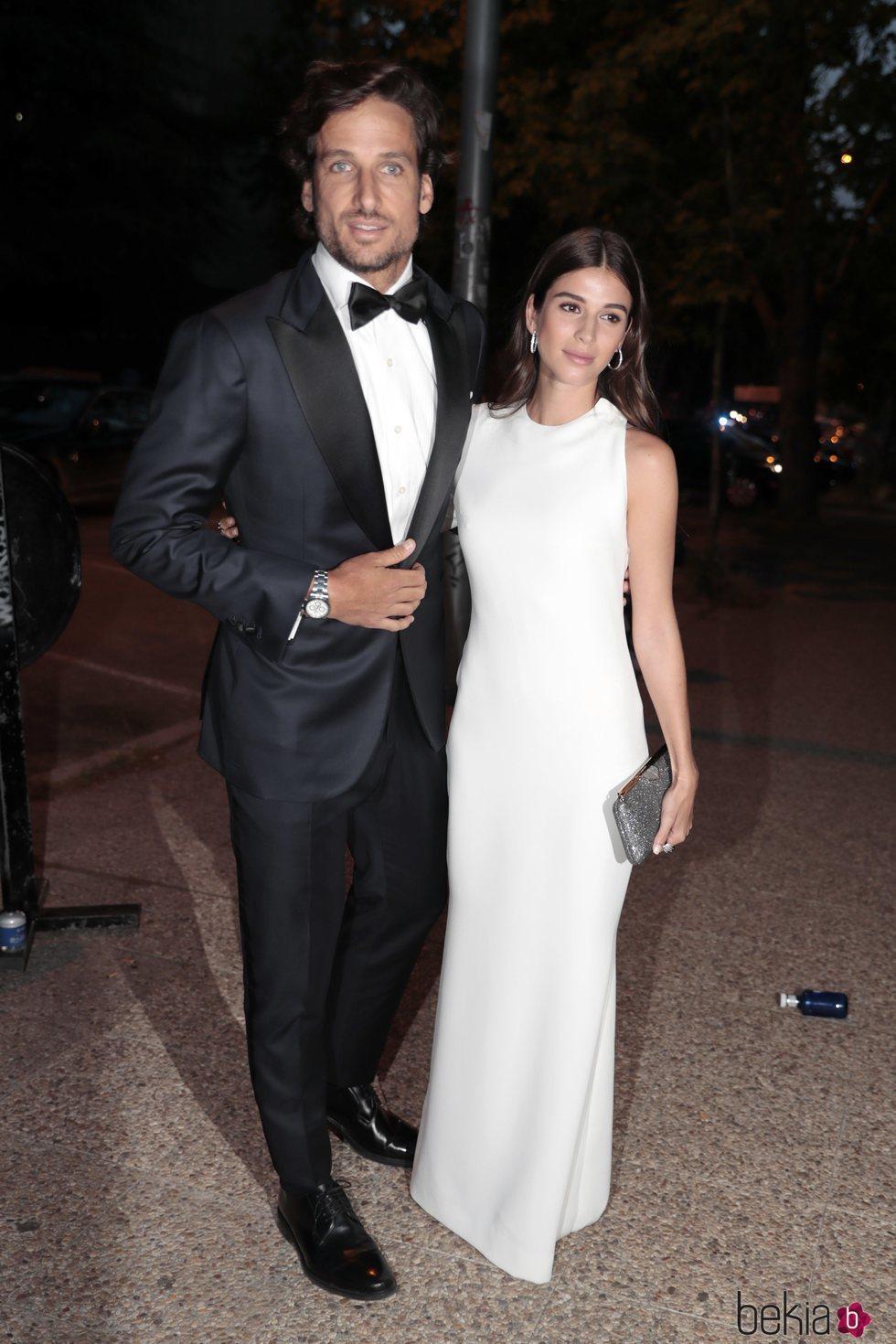 Feliciano López y Sandra Gago llegando a la fiesta del 30 aniversario de Vogue